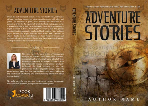 Adventures Book cover Design - Adventure Stories