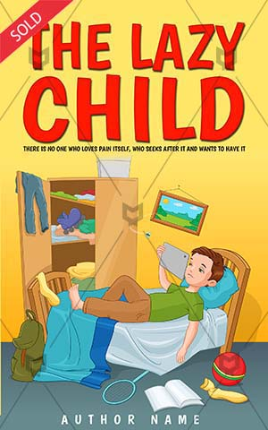 Children-book-cover-lazy-child-cartoon