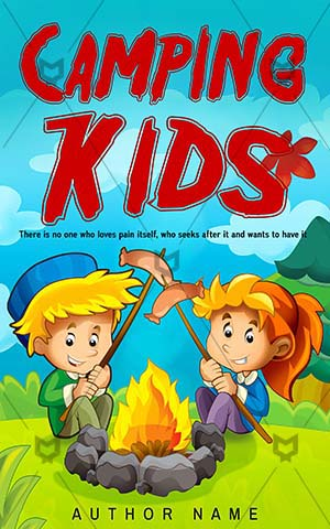 Children-book-cover-camping-fun-kids
