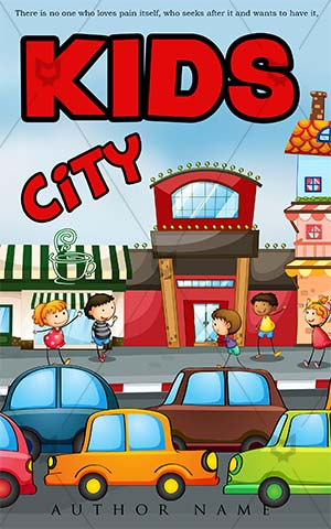 Children-book-cover-kids-city-traffic-school