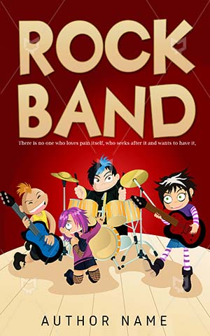Children-book-cover-kids-rock-band