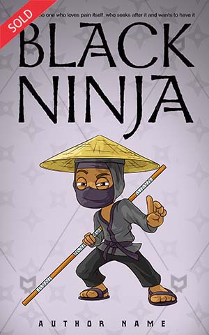 Children-book-cover-cartoon-black-ninja