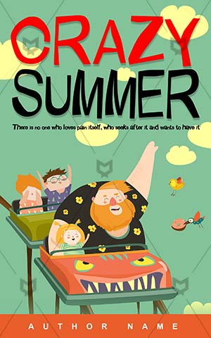 Children-book-cover-summer-enjoy-cartoon