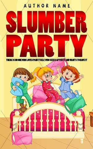 Children-book-cover-kids-slumber-party