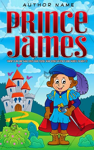Children-book-cover-kids-prince-james