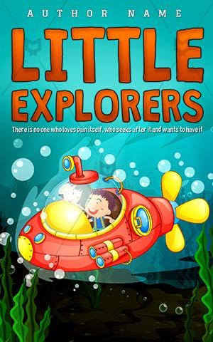 Children-book-cover-Adventure-Kids-story-books-Little-Explore-Exploring-Sous-Seaweeds-Ocean-Underwater-Deep-Submarine-Drawing
