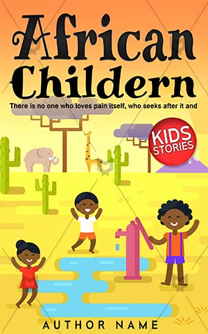 Children-book-cover-African-Kids-Playing-Cover-kids-play-Play-Game-Fun-Group-Vector-Freshness-Style-Childhood-Sun-Outdoors-Nature