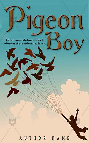 Children-book-cover-Child-Pigeon-story-Flying-boy-Birds-flying-bird-silhouette-Imagination-Fantasy-Adventure