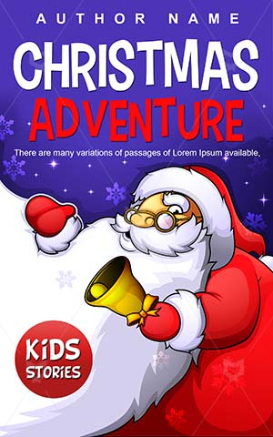 Children-book-cover-Christmas-Cartoon-Santa-Adventure-Vector-Xmas-Cover-kids-Gifts