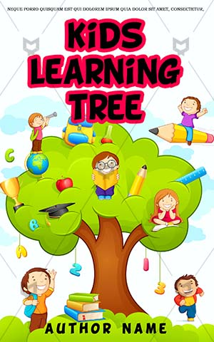 Children-book-cover-Coloring-Book-Covers-Kids-Education-Learning-Playing-Playground-Tree-Magic