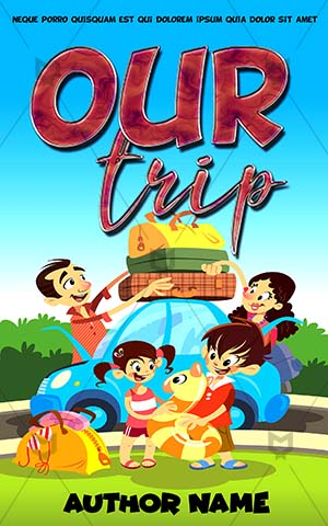 Children-book-cover-Coloring-Book-Family-Trip-Summer-Camp-Kids-Story-Covers-Vacations-Car-Mom-Dad-Outing