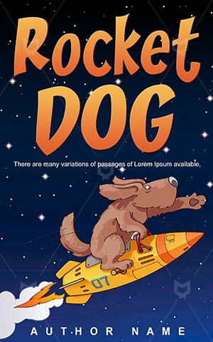 Children-book-cover-Dog-Rocket-Fun-Vector-Super-dog-cartoon-Flying-Animal-Superhero-Books-covers-for-kids-Spaceship-Courage-Jet-Comic
