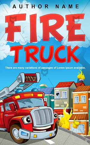 Children-book-cover-Fairy-tale-Fire-brigade-fighters-Fantasy-Illustration-Beautiful-Book-covers-designs-for-kids-Firefighter-Emergency