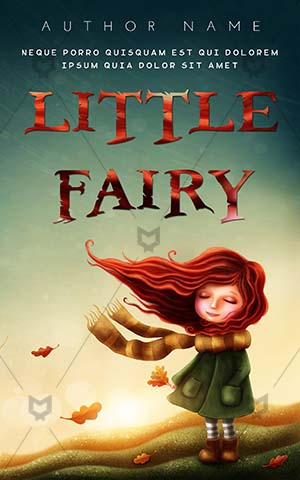 Children-book-cover-Cute-Girl-Hair-Wind-Fall-Child-Cartoon-Childhood-Kid-Imagination-Fantasy-Dream-Story-Little