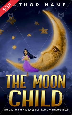 Children-book-cover-Illustration-Sky-Girl-Star-Book-moon-Beautiful-Beauty-Child-Moonlight-Children's-Fairy-Tale-Clouds-Magic