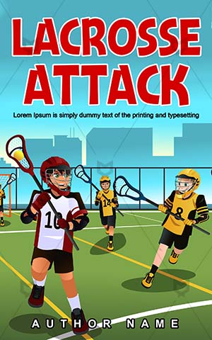 Children-book-cover-Kids-Playing-Sport-Lacrosse-Cover-design-for-kids-Vector-Ball-Team-Play-Cartoon-covers-Players-Game