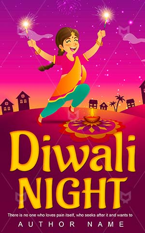 Children-book-cover-Oil-lamp-Diwali-Children's-design-ideas-Graphic-Celebration-Happy-Indian-Hinduism-Traditional-Deepavali-Festival