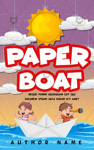 Children-book-cover-Paper-Boat-Sea-Kids-Story-Book-Cover-Design-Girl-and-Boy-Trip-Ship-Coloring-Illustration-Travel