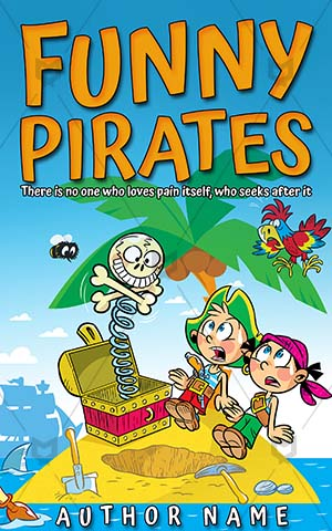 Children-book-cover-Pirate-Kids-Funny-Children's-pirates-Play-Illustration-Small-Treasure-Gold-Travel-Child-Sea-Poultry-Parrot