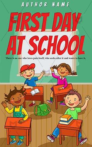 Children-book-cover-school-Kids-Class-Classroom-Vector-School-Work-Desk-Drawing-Preschooler
