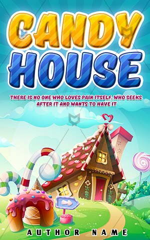 Children-book-cover-Sweet-Candy-Cookie-House-Illustration-Tasty-Dessert-Cartoon-Childhood-Lollipop-Home-Fantasy