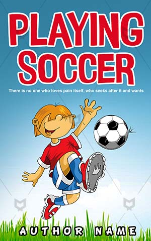 Children-book-cover-Vector-Play-Little-Soccer-Cover-kids-play-Kids-players-Game-Sports-Fun-design-for-Football-Playing