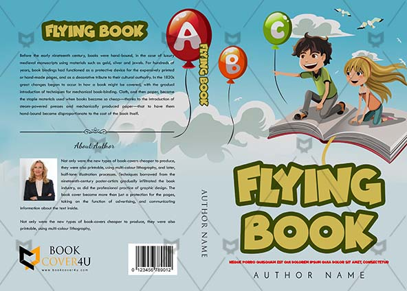 Children Book Cover Design Flying Book
