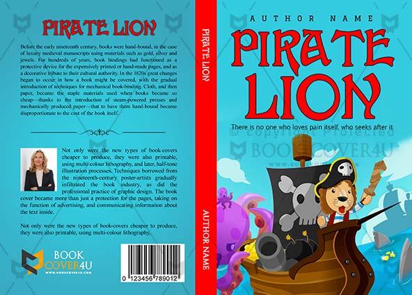 Children Book Cover Design Pirate Lion