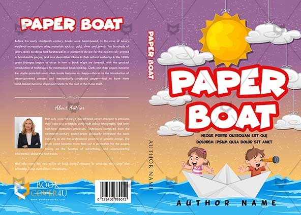Children Book Cover Design Paper Boat