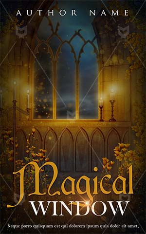 Fantasy-book-cover-window-candles