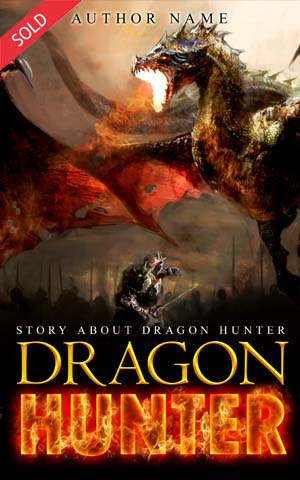 Fantasy-book-cover-dragon-hunter-fire-attack