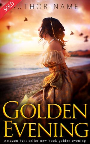 Fantasy-book-cover-Golden-Evening-princess-girl-love-romance