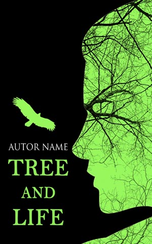 Fantasy-book-cover-tree-life-face-green