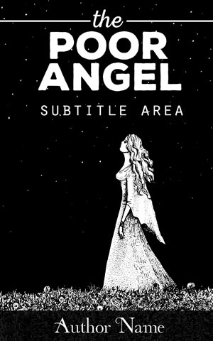 Fantasy-book-cover-Angel-star-black-night