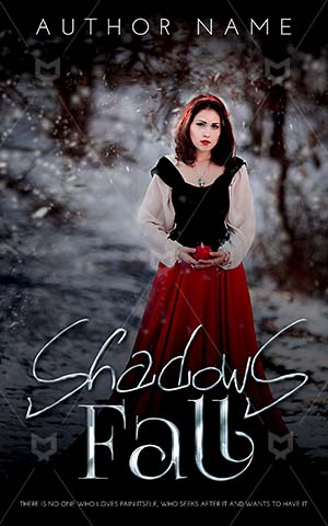 Fantasy-book-cover-Beautiful-Female-Woman-Princess-Scary-Snow-with