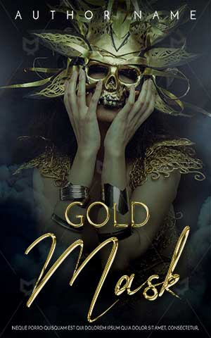 Fantasy-book-cover-gold-mask-hidden-face-women-with