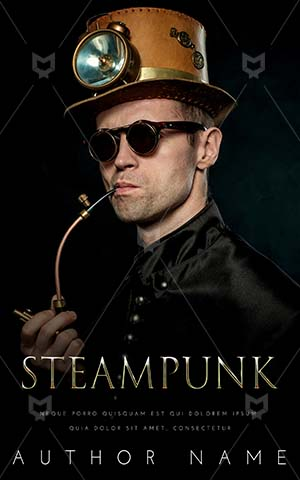 Fantasy-book-cover-Old-fashioned-Cyberpunk-Man-Handsome-Caucasian-Punk-Pipe-Steam-Steampunk-Smoke-Smoking