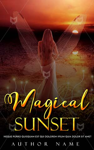Fantasy-book-cover-Sunset-Beautiful-Magic-Woman-Witch-Princess-World-Angle-Book-Covers