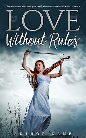 Fantasy-book-cover-Violin-Leisure-Rules-Love-Tender-love-Girl-Outdoor-Red-haired-Hair-Sky-Beautiful-Holding-Woman-Twilight-Body-Music