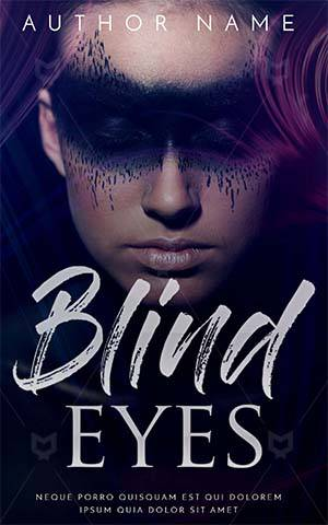 Fantasy-book-cover-woman-beautiful-girl-face-paint-blind-men-faceless