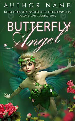 Fantasy-book-cover-woman-beautiful-girl-face-paint-gothic-kids-story-angel