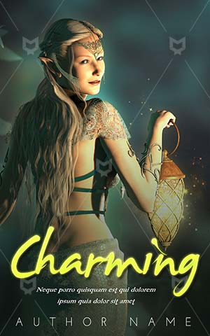 Fantasy-book-cover-woman-witch-lantern-night-magic-Sparkle-Elf-Blonde-Magical-Twinkle-Enchanting