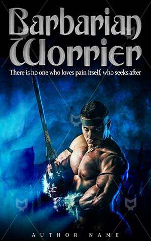 Fantasy-book-cover-Worrier-Fighter-Men-Barbarian-Warrior-fighter-symbol-Steel-Sharp-Male-Smoke-Strong-Sword-Ancient-Iron-Battle-Hero