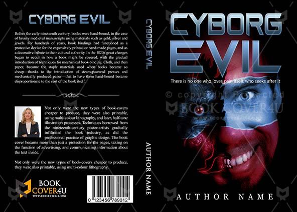Fantasy Book cover Design - Cyborg Evil