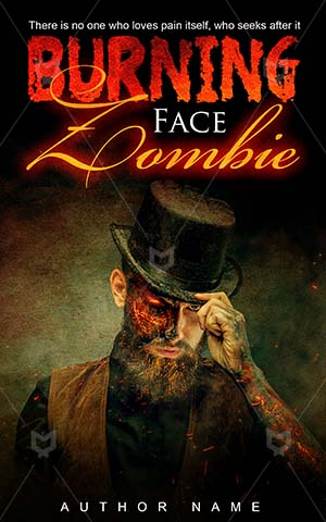 Horror-book-cover-burning-zombie-face