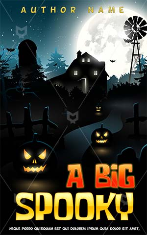Horror-book-cover-halloween-party-horror-pumpkin-scary