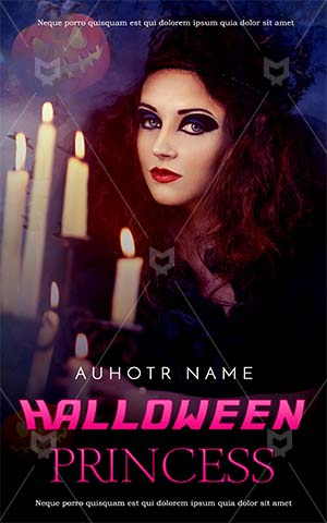 Horror-book-cover-queen-halloween-party-witch