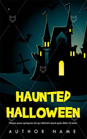 Horror-book-cover-halloween-haunted-house-party-cemetery
