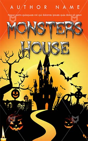 Horror-book-cover-halloween-haunted-house-pumpkin-scary
