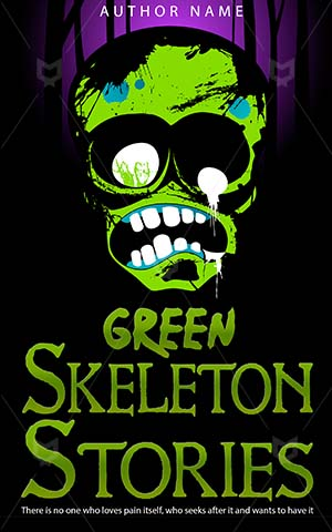 Horror-book-cover-green-scary-skeleton